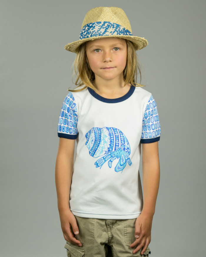 Image showing OneTribe hermit crab kids t-shirt