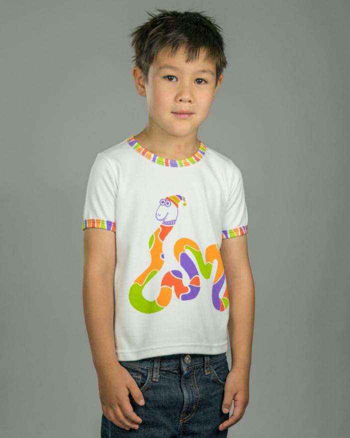 Image showing OneTribe's rainbow snake t-shirt
