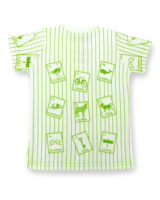 Image showing striped Spanish Cards t-shirt on white background.